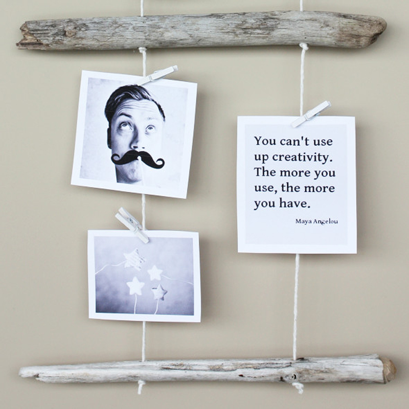 DIY Driftwood Photo Collage