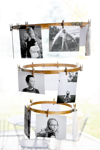 DIY Embroidery Hoop Photo Collage