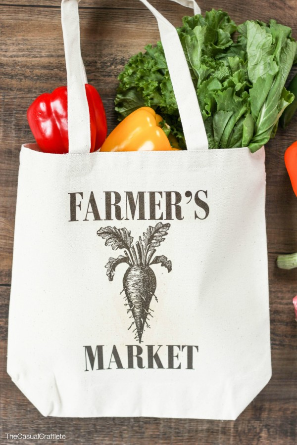 DIY Farmer's Market Tote Transfer