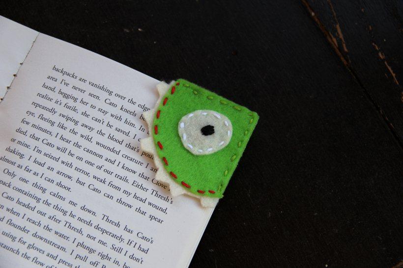 DIY Felt Monster Bookmark