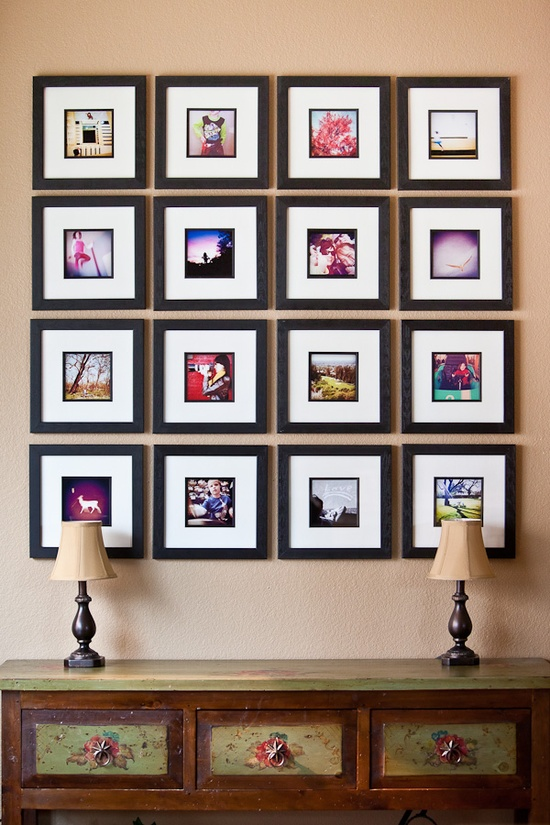 32 photo collage diys for a more beautiful home diy framed photo collages solutioingenieria Image collections