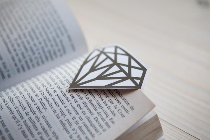 DIY Gem Bookmark