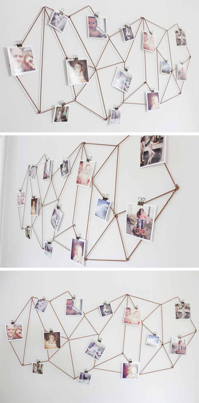 DIY Geometric String Photo Collage