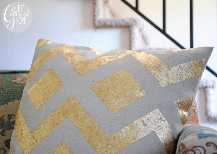 DIY Gold Leaf Pillow