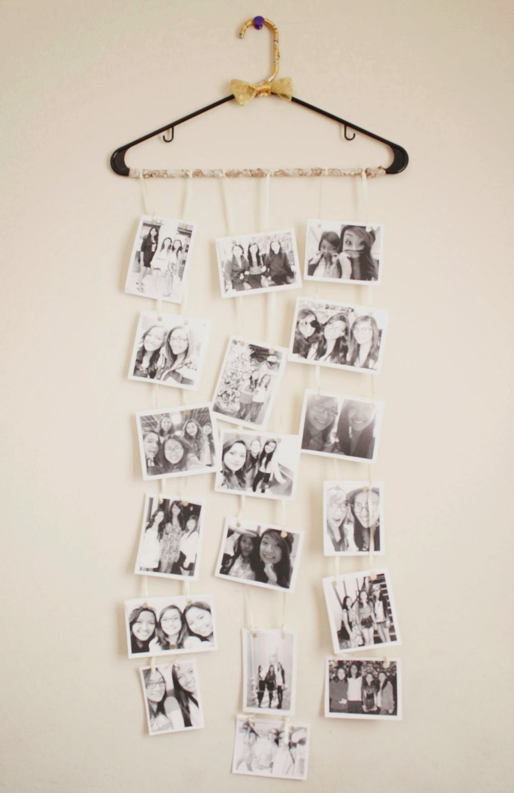 32 photo collage diys for a more beautiful home diy hanger photo collage solutioingenieria Image collections