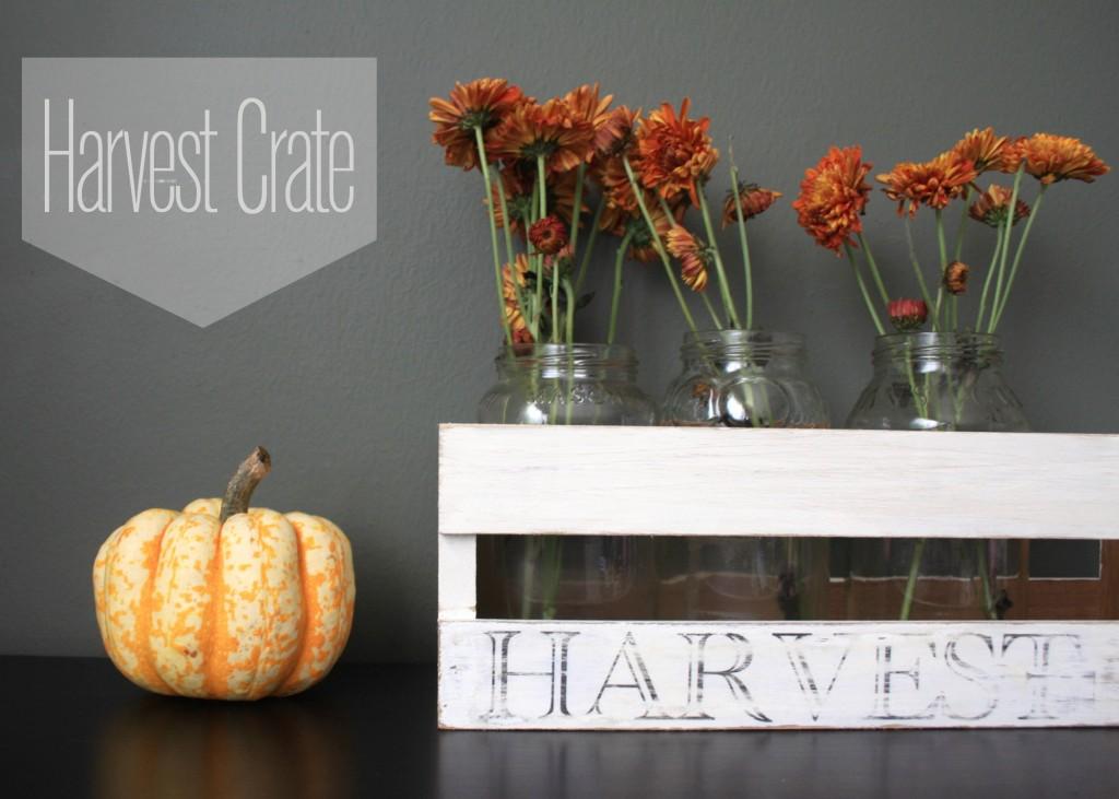 DIY Harvest Crate DIY Centerpiece