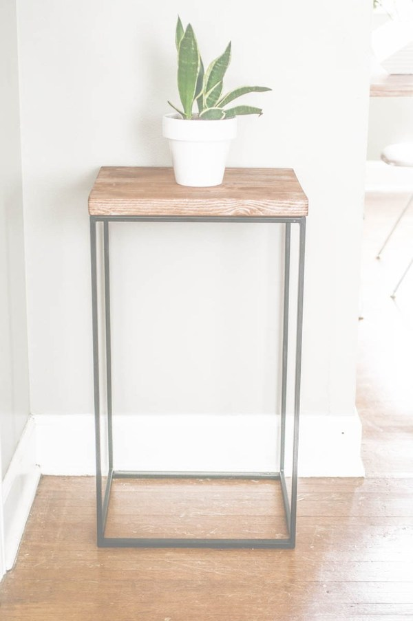 diy ikea hamper end table