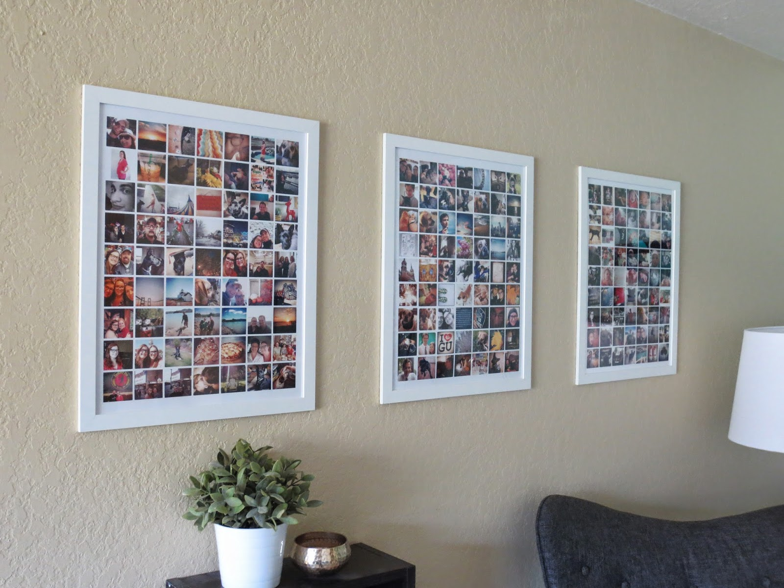 32 photo collage diys for a more beautiful home diy instagram photo collages solutioingenieria