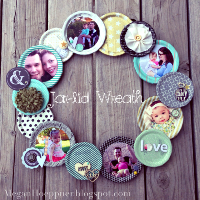 DIY Jar Wreath Photo Collage