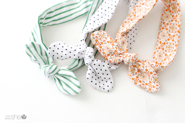 DIY Knotted Baby Headband