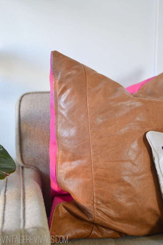 DIY Leather Pillow