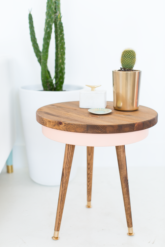 DIY Mid Century Modern Side table