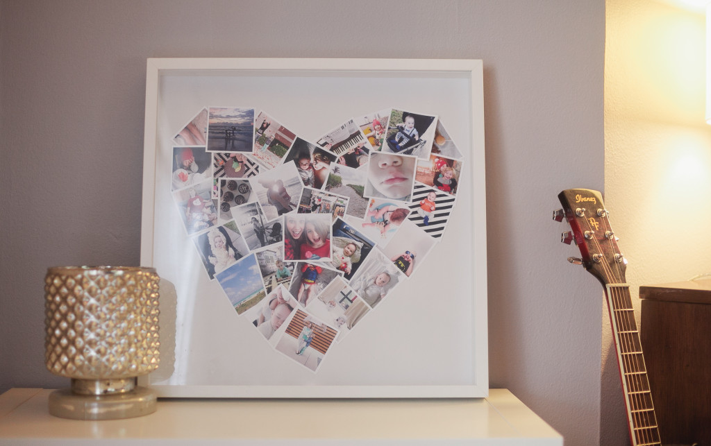 32 photo collage diys for a more beautiful home diy mini heart photo collage solutioingenieria Image collections