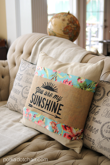 DIY PIllow Sleeve