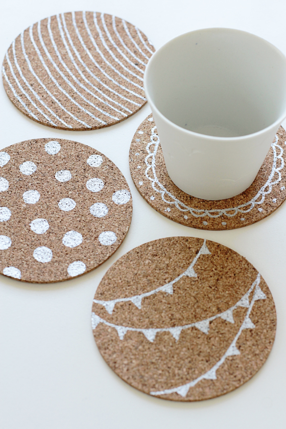 DIY Paint Pen Coasters