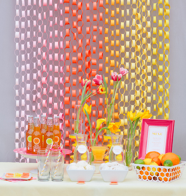 DIY Paper Chain Link Background