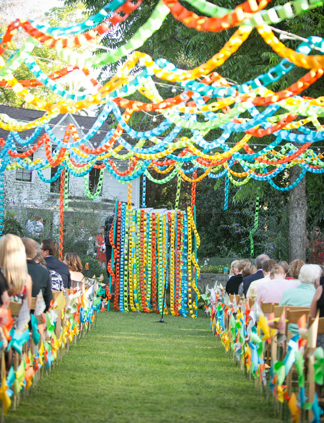 DIY Paper Chain Link Ceremony