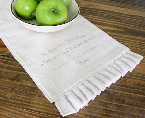 DIY Paris Iron on transfer table runner
