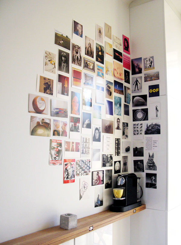 32 photo collage diys for a more beautiful home diy photo collage corner solutioingenieria