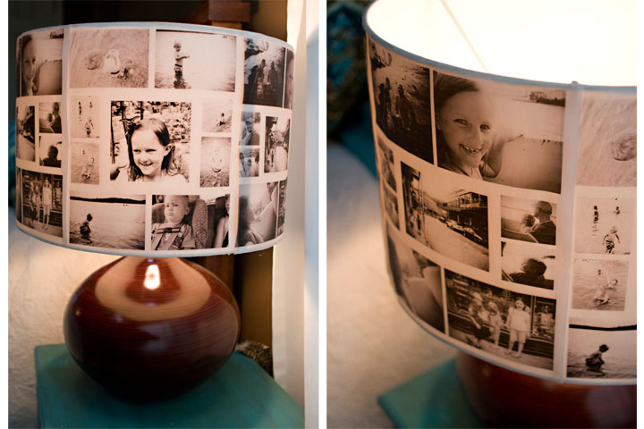 DIY Photo Collage LampShade