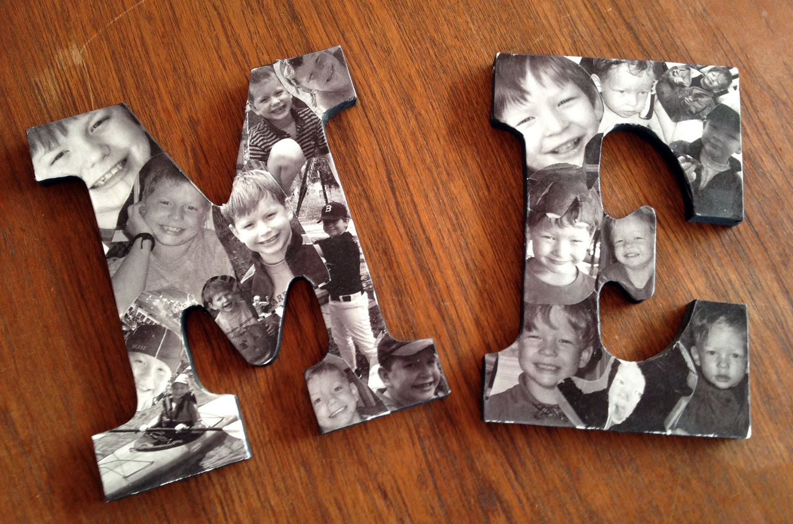 32 photo collage diys for a more beautiful home for Homemade wall letters