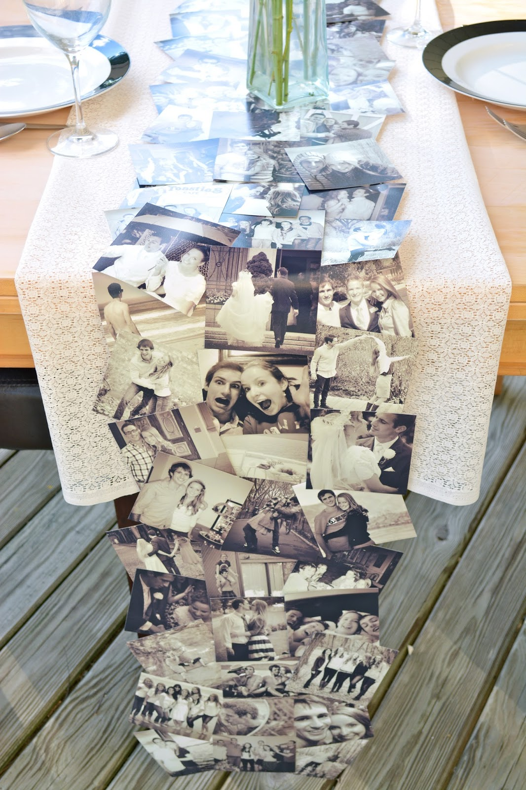 DIY Photo Collage Tablerunner