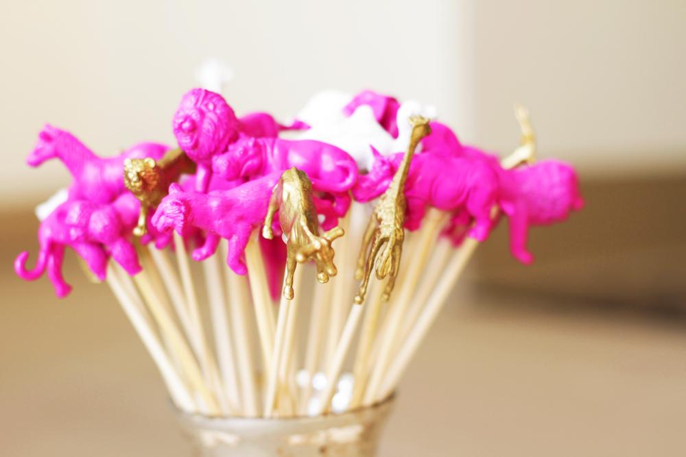 DIY Plastic Animal Cocktail Stir Sticks