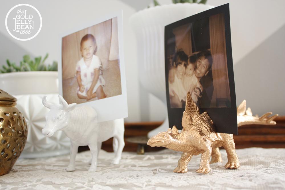 DIY Plastic Animal Photo Holder