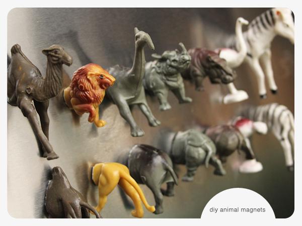 DIY Plastic Animals Magnets