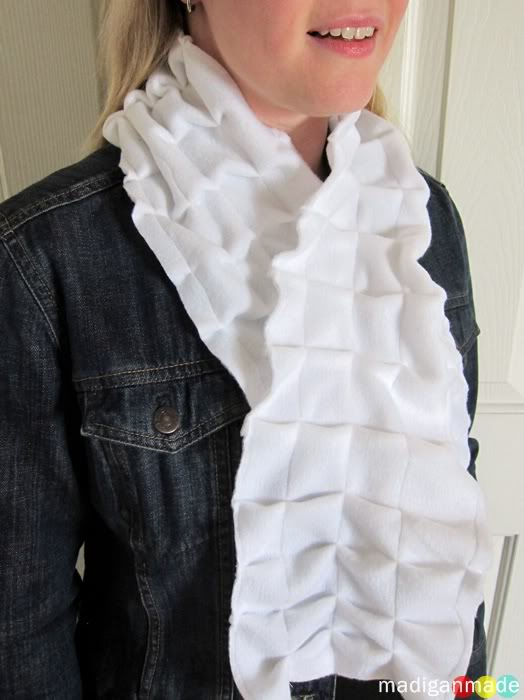 DIY Pleated Scarf