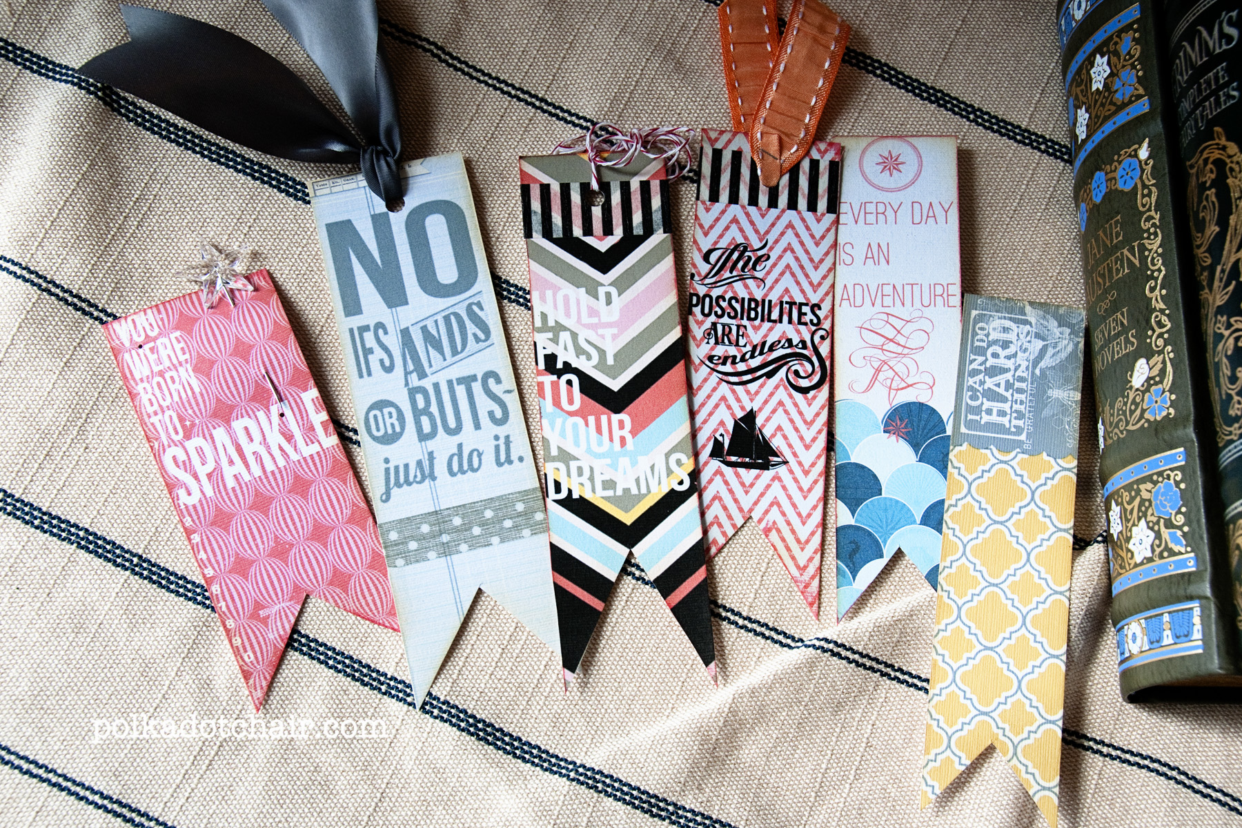 Diy Bookmarks Part - 15: DIY Quote Bookmarks