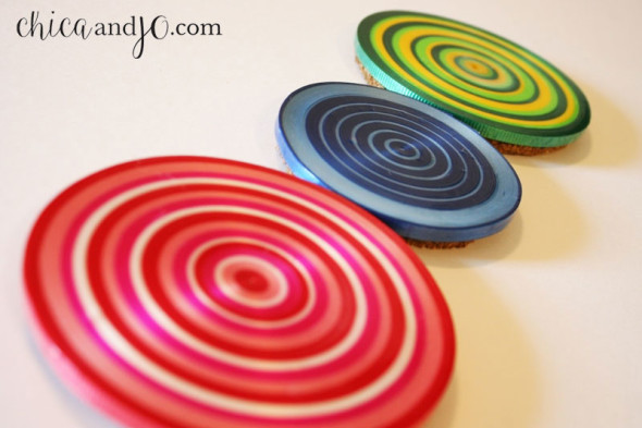 DIY Ribbon Coasters