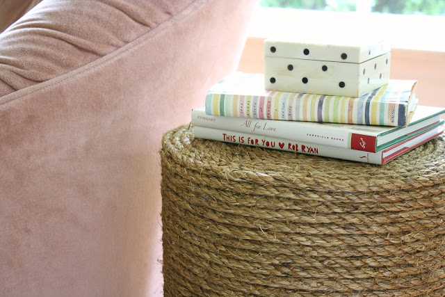 DIY Rope Side Table