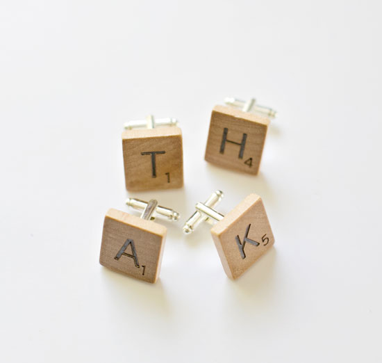 DIY Scrabble Cufflinks