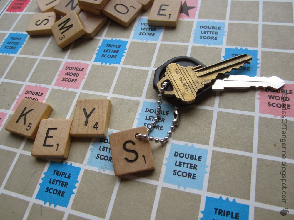 DIY Scrabble Keychain