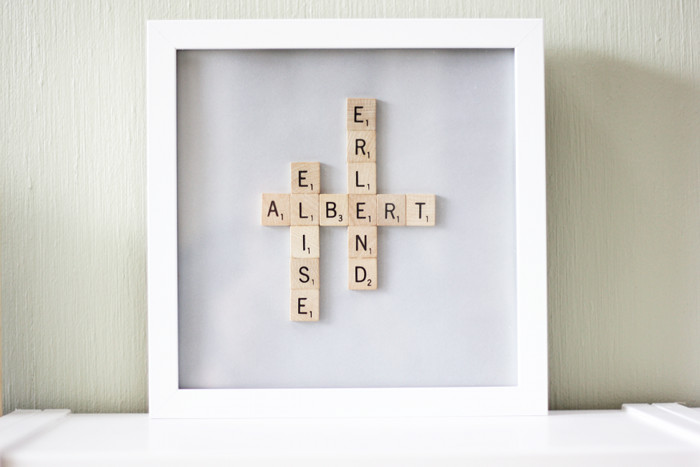DIY Scrabble Name Frame