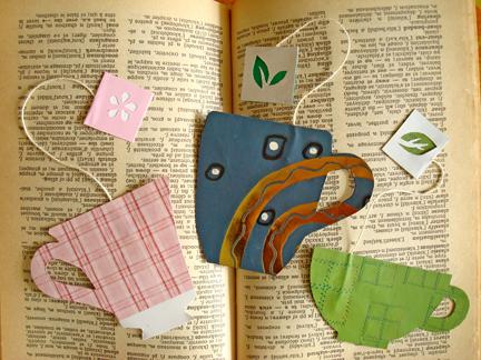 DIY Tea Cup Bookmarks