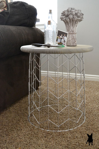 DIY Trash Can End Table