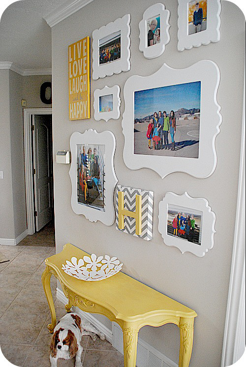 DIY Unique Framed Photo Collage