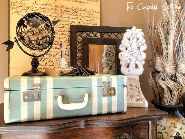 DIY Vintage Suitcase Painted