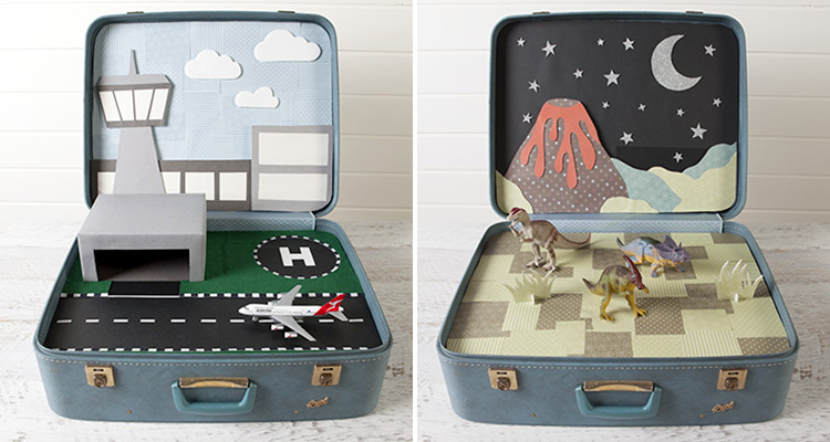 DIY Vintage Suitcase Play