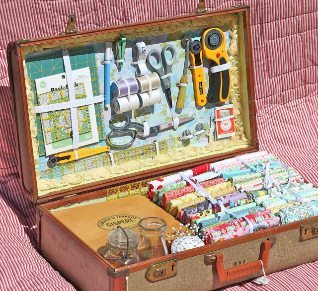 DIY Vintage Suitcase Sewing kit