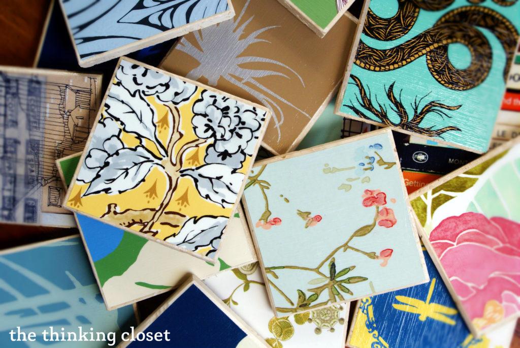 DIY Wallpaper Coasters