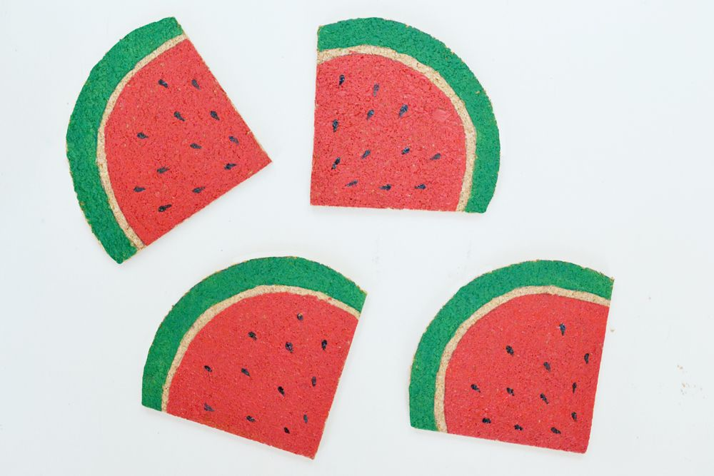 DIY Watermelon Coasters Colorful
