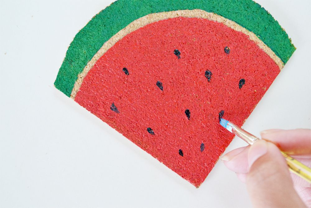 DIY Watermelon Coasters Finished