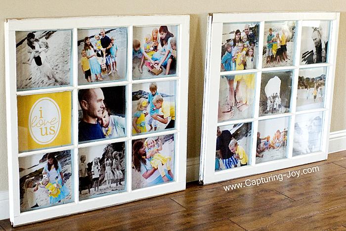 32 photo collage diys for a more beautiful home diy window photo collage solutioingenieria Choice Image