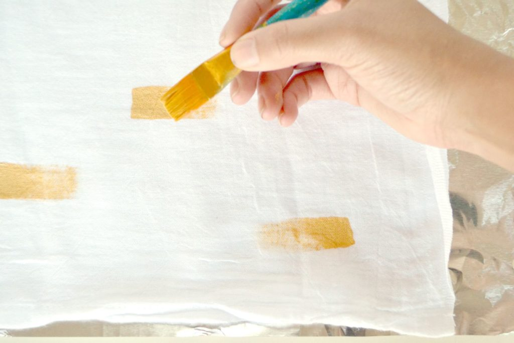 DIY brush stroke hand towels