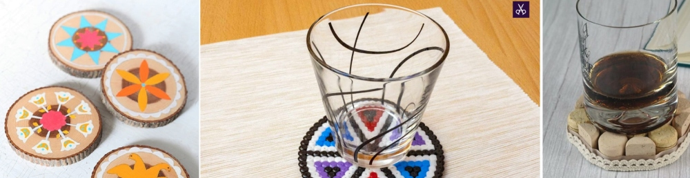 35 Easy-to-Make DIY Coasters – Create Your Own Table Coasters