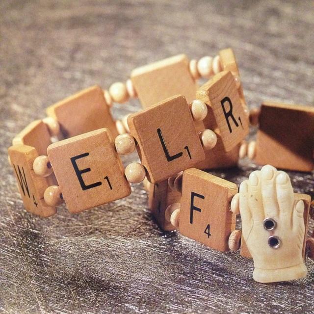 DIy Scrabble Bracelet