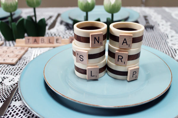 DIy Scrabble Napkin Rings